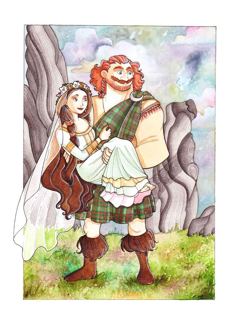 elinor and fergus wedding by teodora85 on deviantart