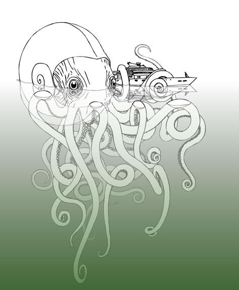Giant squid by dogblessyou on deviantart for Giant squid coloring pages