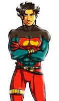 SUPERBOY-in 1st costume