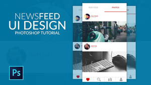 NewsFeed Page UI Design by hasshasib001