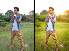 How to blur background by hasshasib001