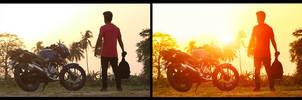 Romantic Sun Effects in Photoshop Tutorials by hasshasib001