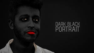 Dark Black Ghost Portrait