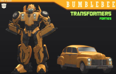 TF:FORTIES - BUMBLEBEE 3D MODEL [BLENDER] by TRAWERT