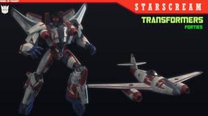 TF:FORTIES - STARSCREAM 3D MODEL [BLENDER]