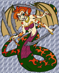Demon-Snake Goddess