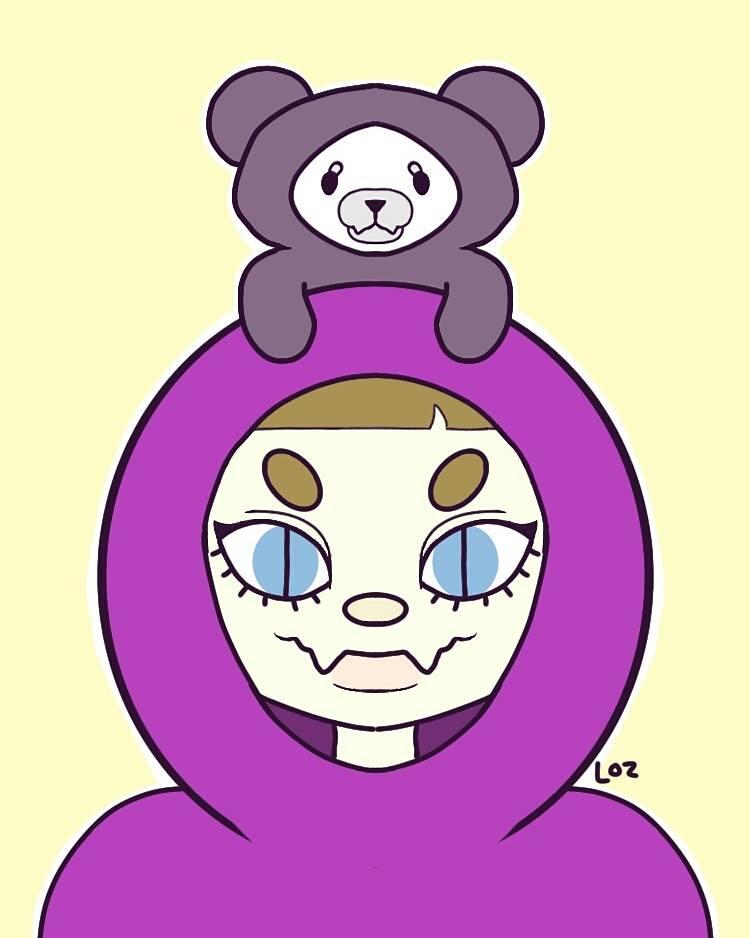 Purple Bear Girl by legendofzazzy43