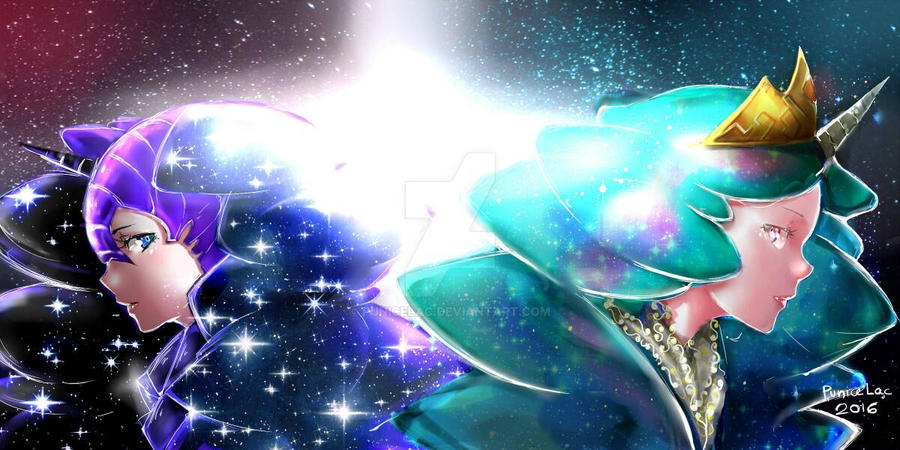 (FanArt) Celestia VS Nightmare Moon