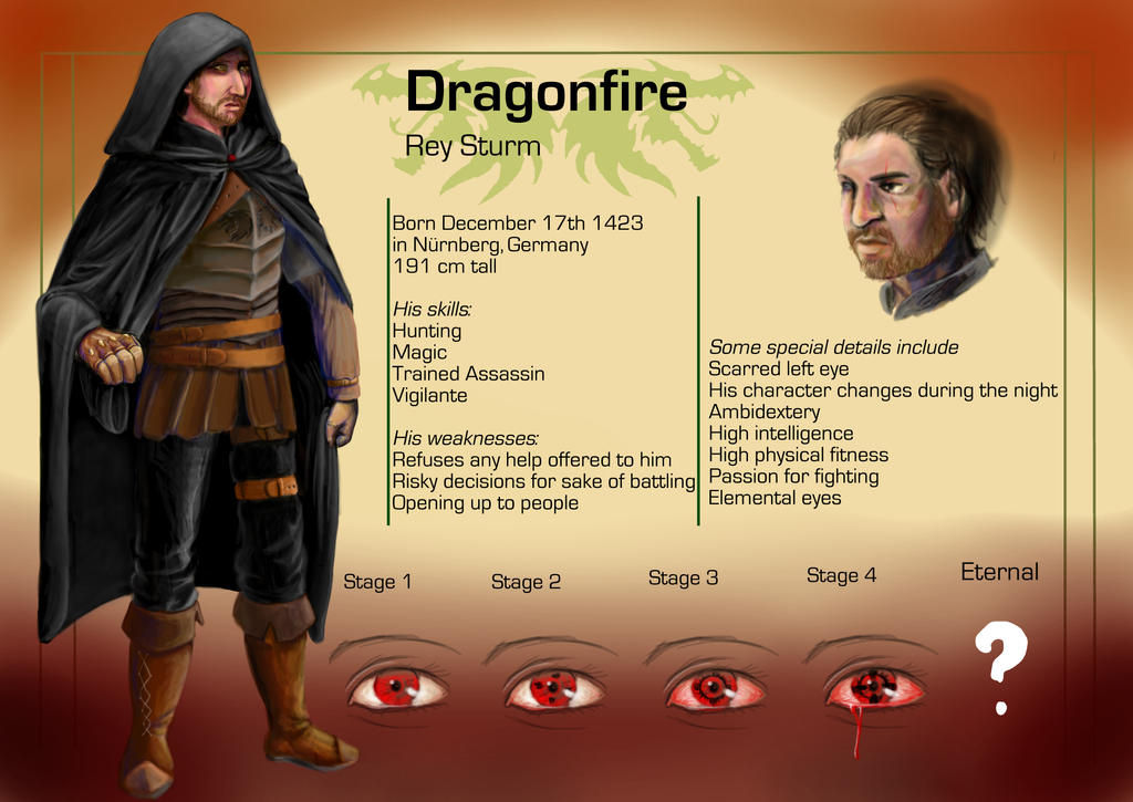 Request_Medieval Dragonfire Reference Sheet by singingstranger