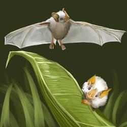 Honduran White Bat - Request by singingstranger