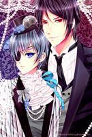 Kuroshitsuji-Ciel and Sebastian by kyaptain