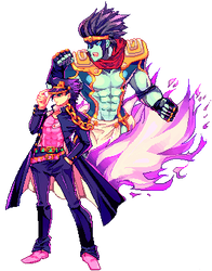 JJBA-Pixel by kyaptain