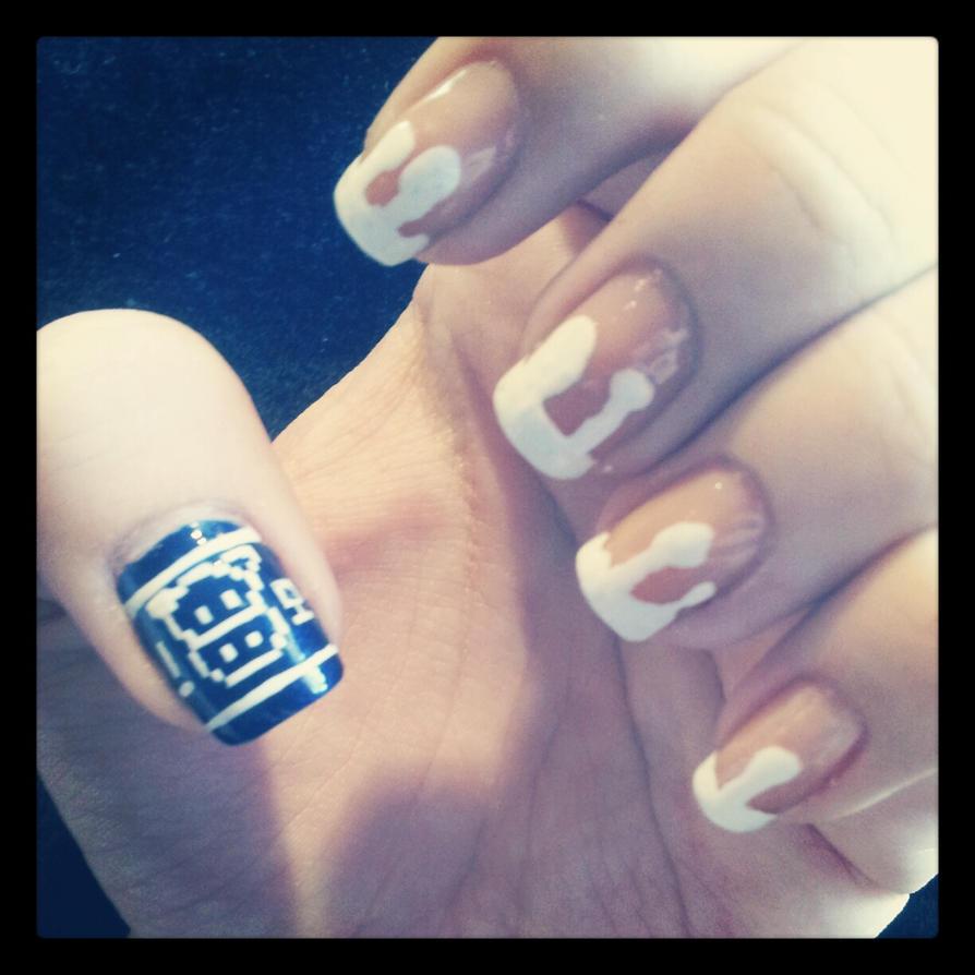 Lon Lon Milk Zelda nails by atomicwrangler on DeviantArt