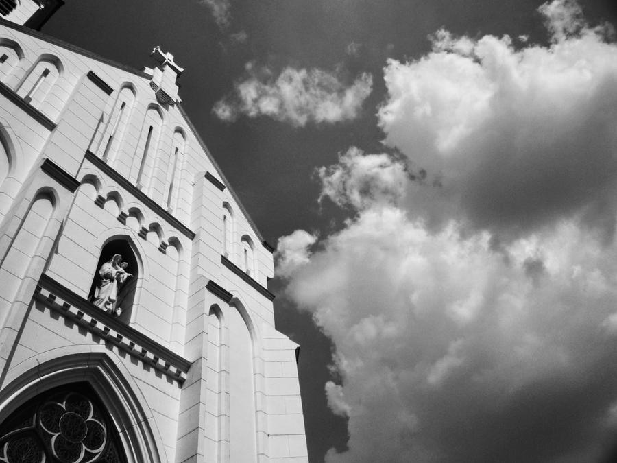 Sky Over Bogor Cathedral by titis-pratiwi