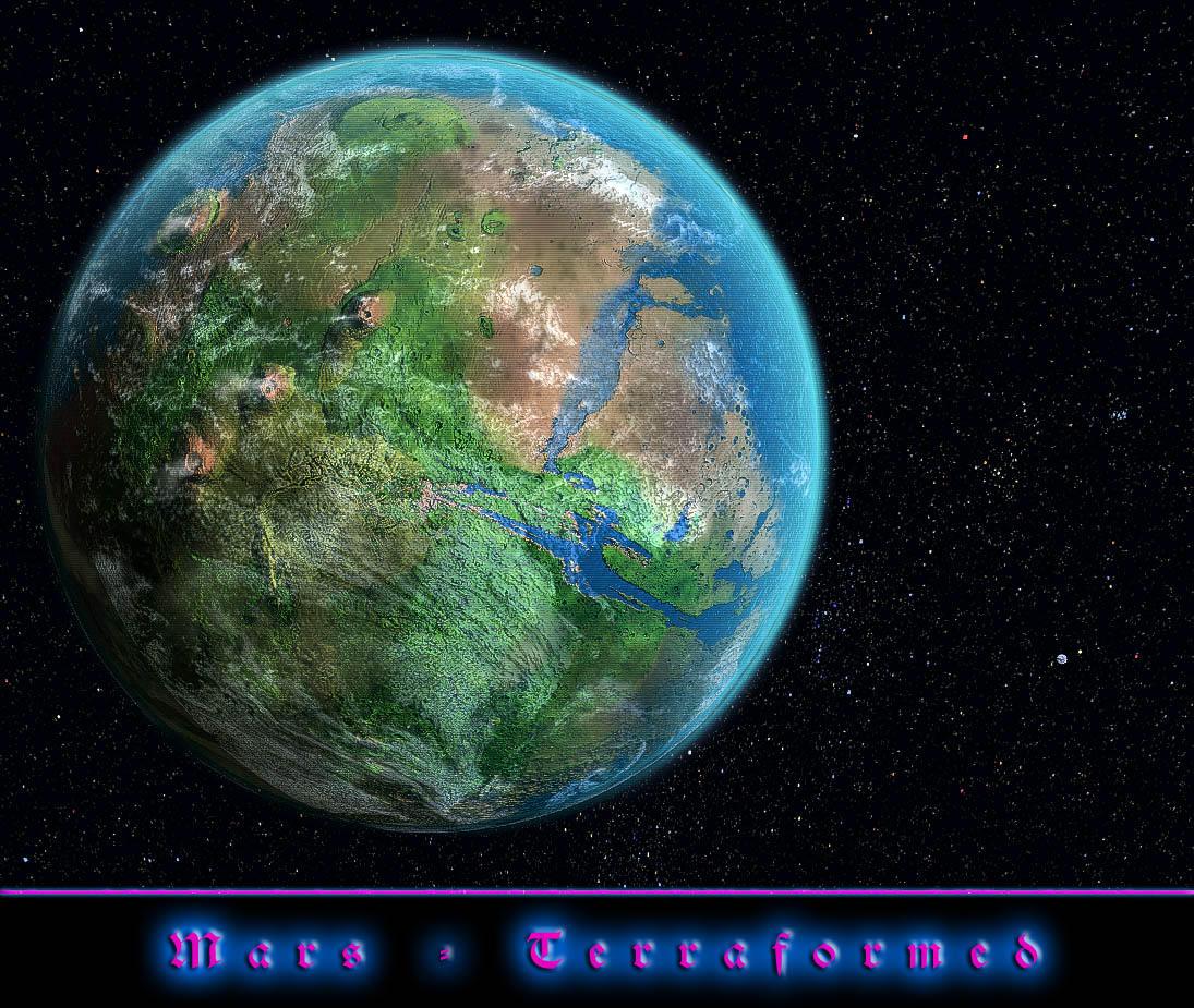 Mars - Terraformed by fallenangel3k
