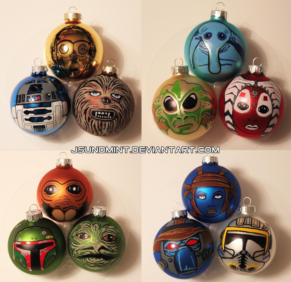 #A1612A Star Wars Ornaments By Jsundmint By R1VENkassle On DeviantArt 5515 decorations de noel star wars 1024x991 px @ aertt.com