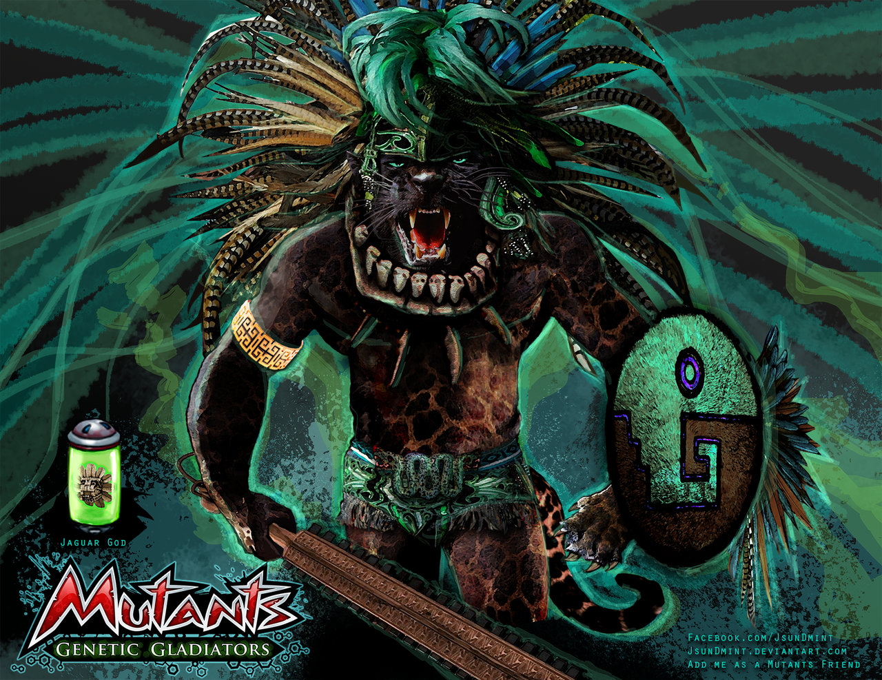 Jaguar God - Mutants: Genetic Gladiators by JsunDmint