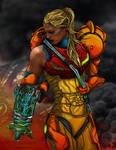 Battle Damaged Samus of Metroid by R1VENkassle