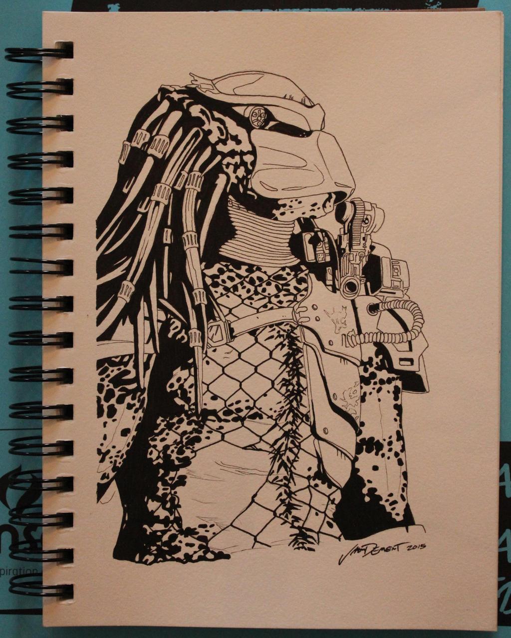 The Predator - inks by R1VENkassle