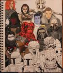 Star Wars Villains painting in progress