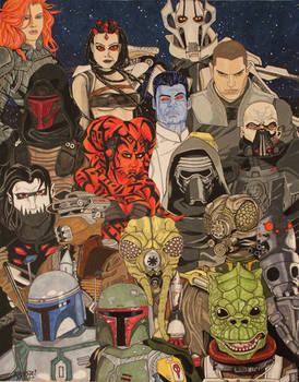 STAR WARS Villains Poster