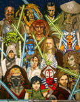 Jedi Knight Poster (Copic Markers)