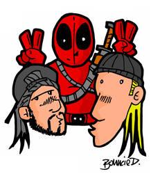 Deadpool, Jay and Silent Bob by BouncieD