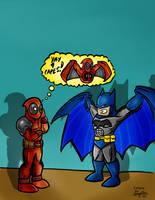 Deadpool and Batman Colorjob by BouncieD