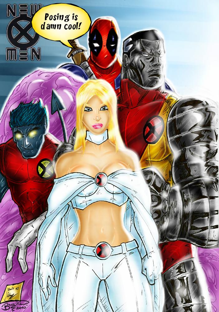 Men Colorjob with Deadpool by BouncieDX Men Deadpool Drawings