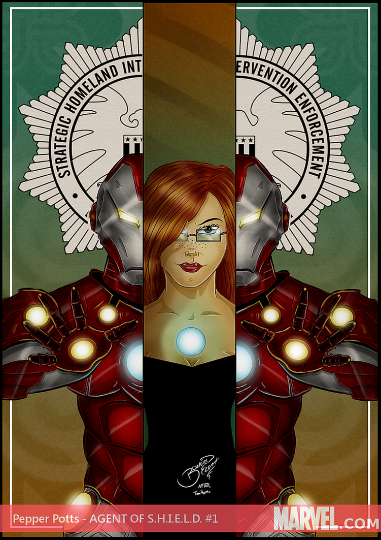 Pepper potts from iron man by bouncied on deviantart