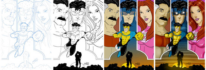 Invincible Fake Cover Progress by BouncieD