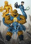 The Fantastic Four F4 Colored