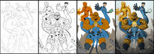 The Fantastic Four F4 Work in Progress