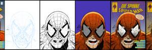 Spider-Man Die Spinne Retro Cover Part 2 WiP