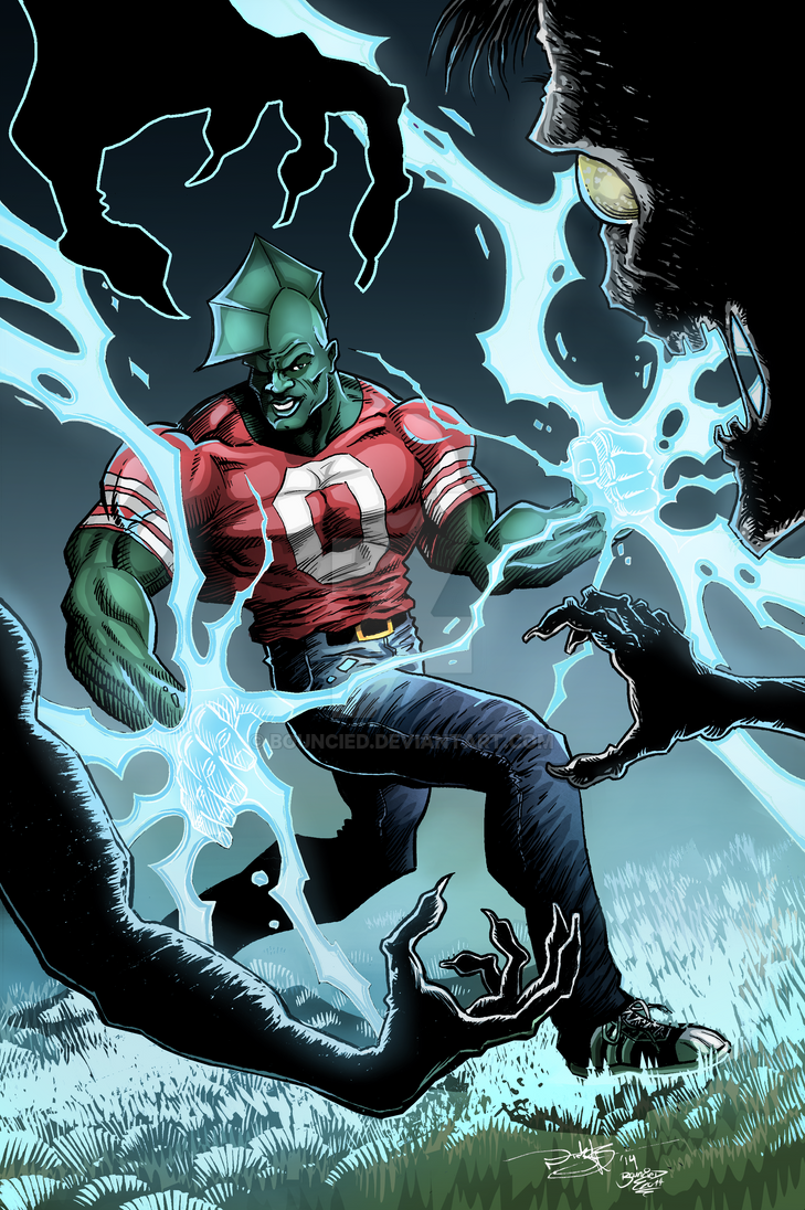 PinUp Coloring Malcom from Savage Dragon by BouncieD