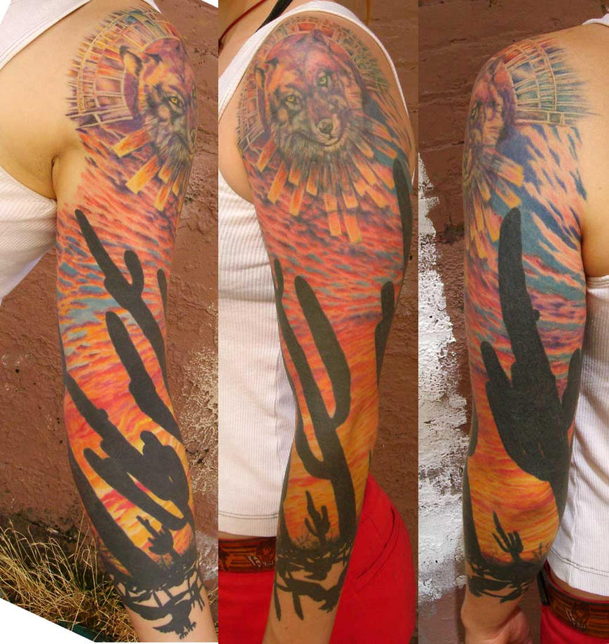 Mojave desert - sleeve tattoo