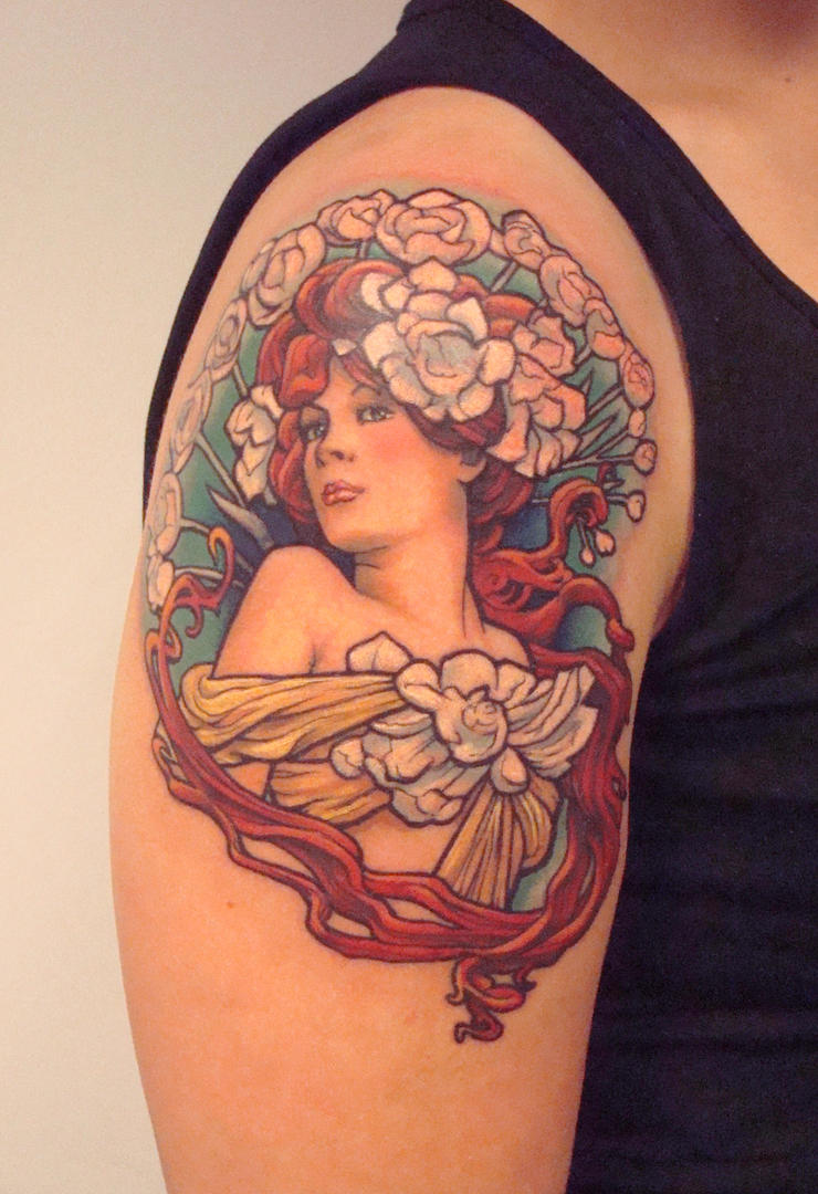 Mucha girl by viptattoo