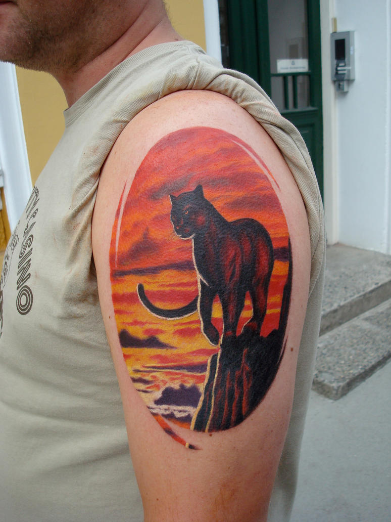 Sunset panther by viptattoo