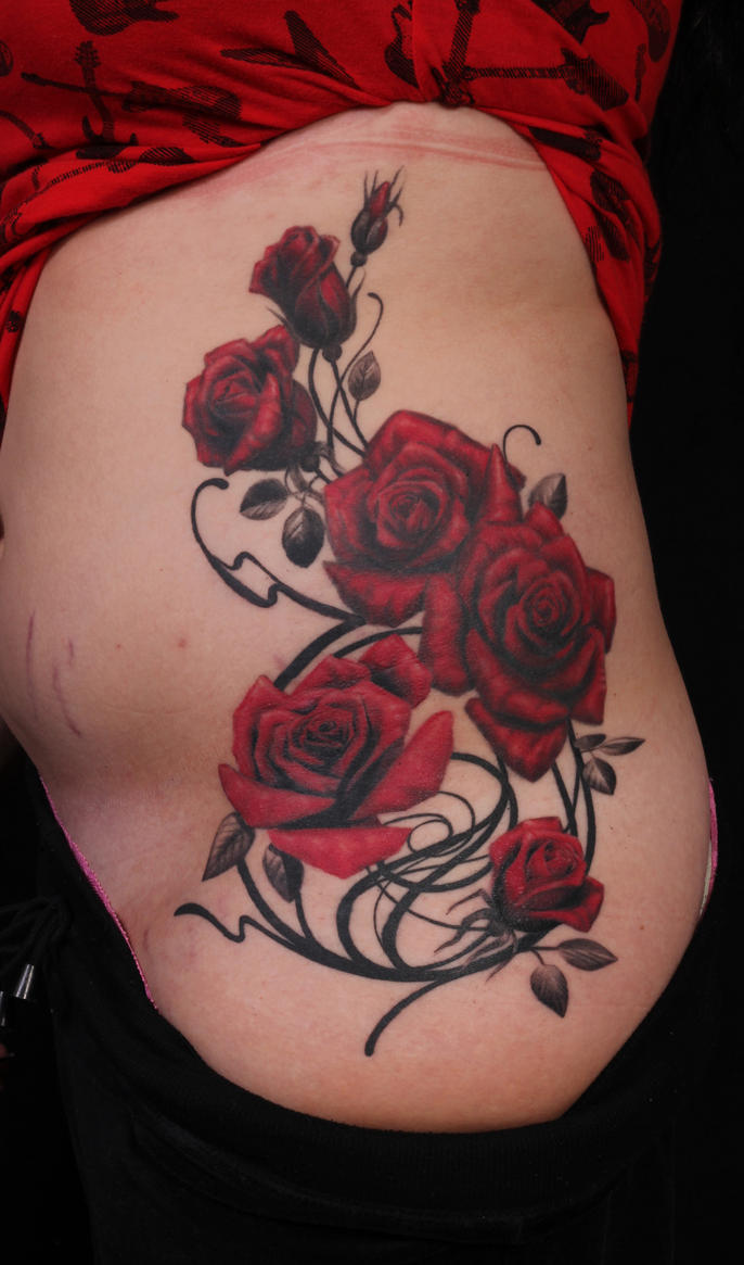 Roses with design by viptattoo