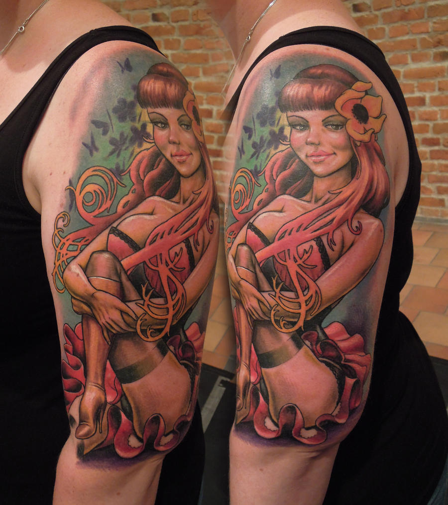 Pinup at Stockholm Inkbash '11 by viptattoo