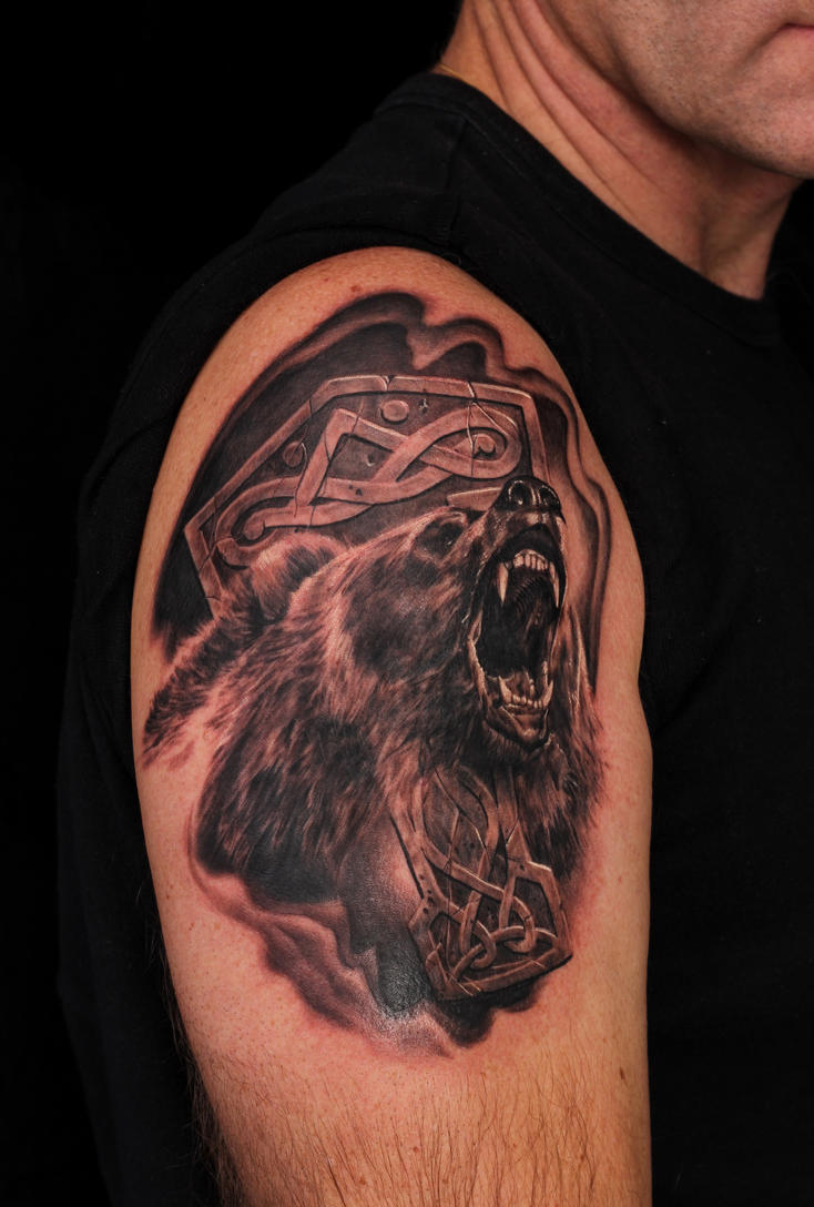 Black bear tattoo  Etsy