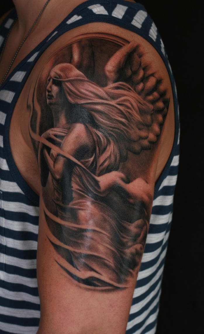 Angel arm by viptattoo