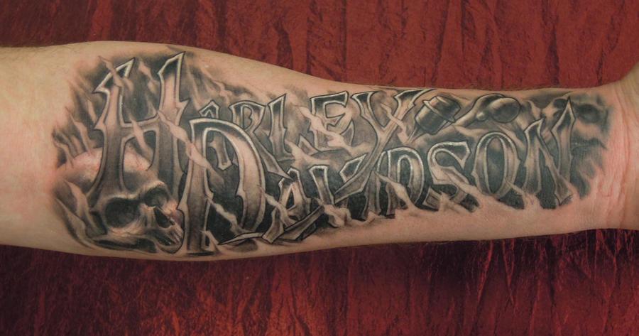 Harley davidson tattoo by viptattoo on deviantart