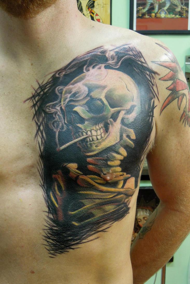Smoke Skull Tattoos Smoking Skull by vipta...