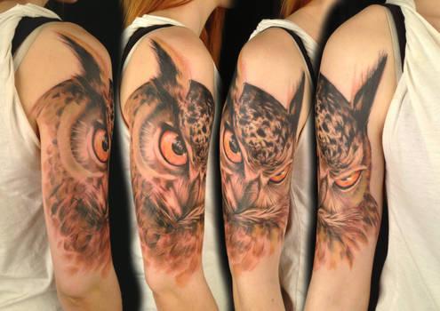 Freehand owl