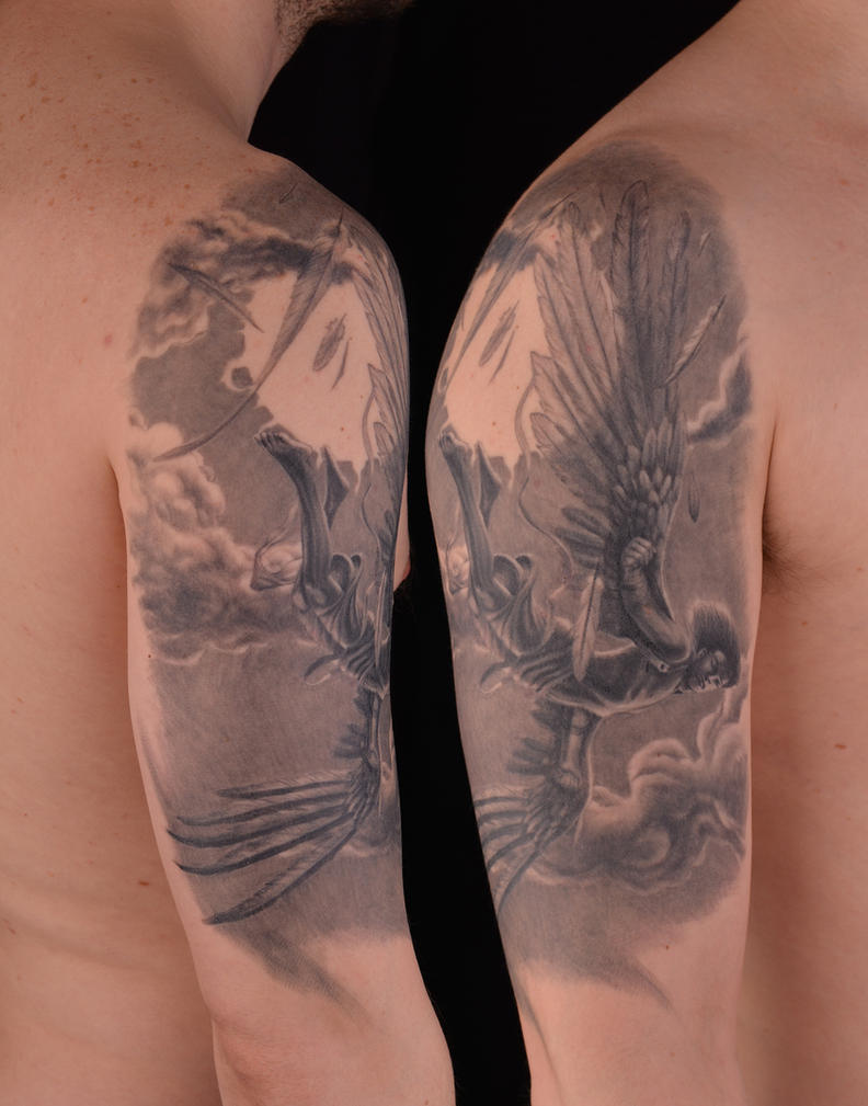 Icarus falling by viptattoo on DeviantArt