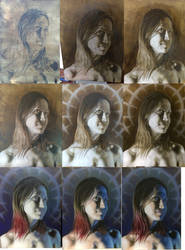 Progress steps on portrait