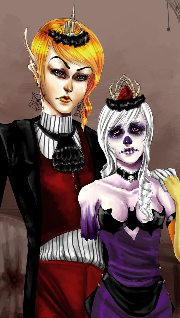 Halloween King and Queen by Berserk-Cyborg-Panda