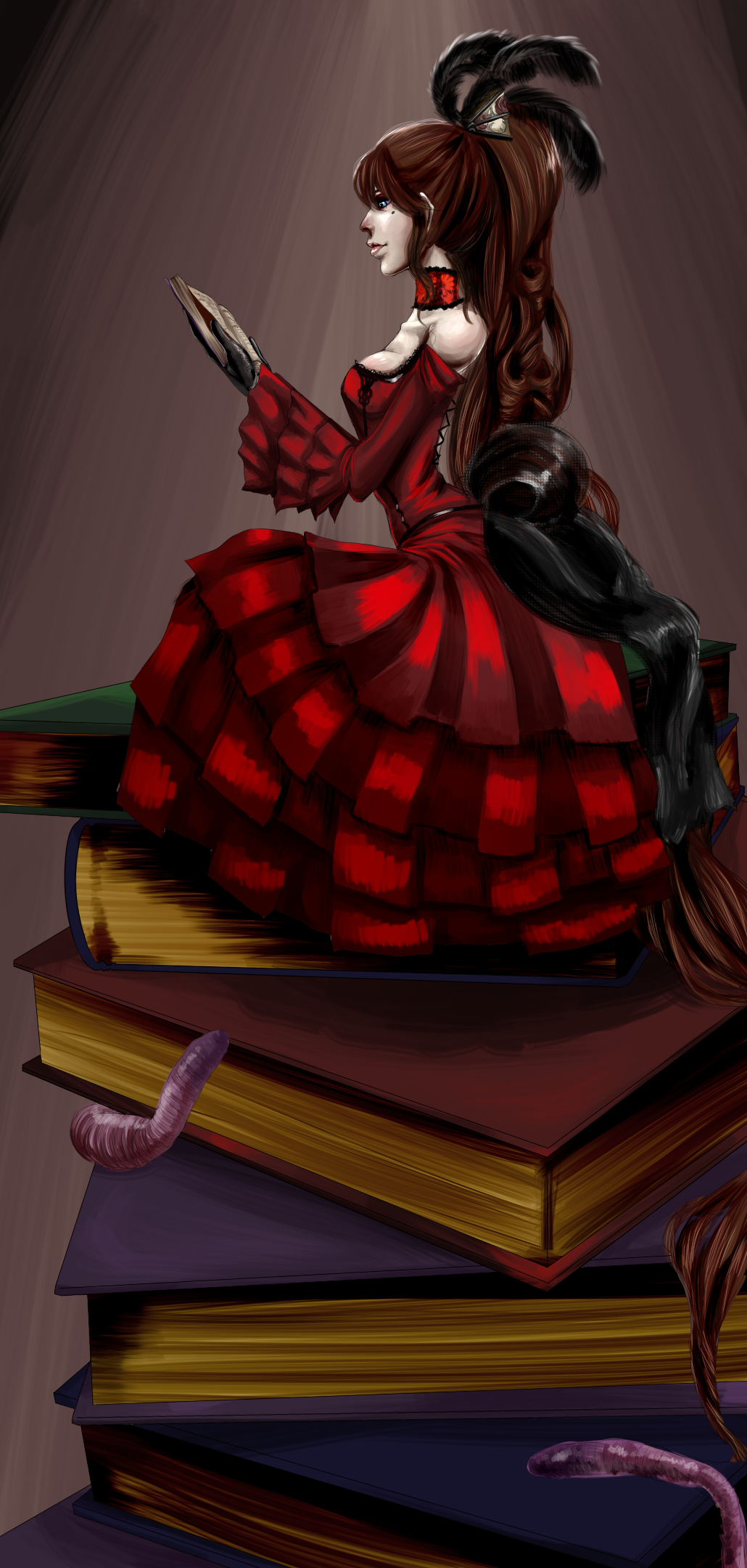 Book Worm by Berserk-Cyborg-Panda