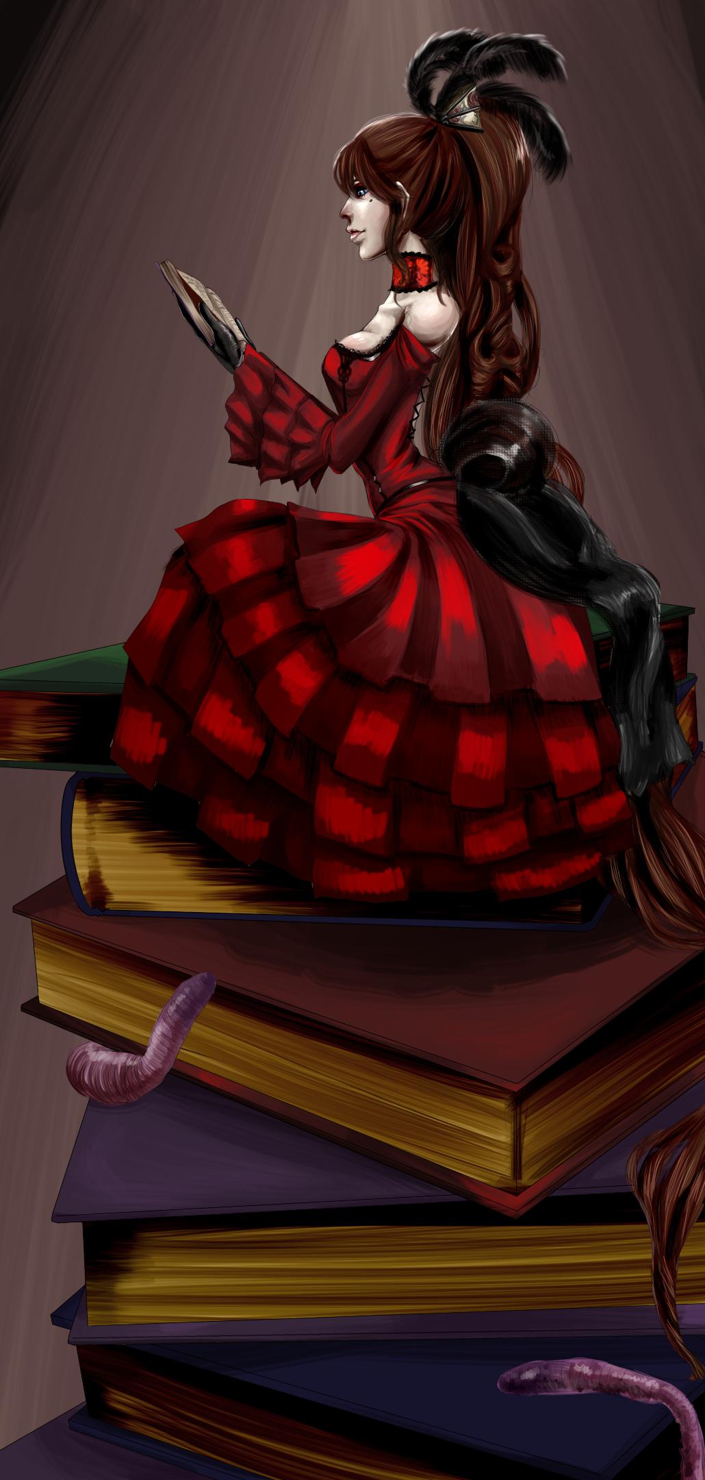 Book Worm by Berserk-Cyborg-Panda